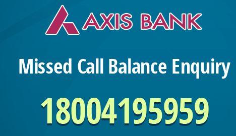 axis bank account balance check toll free no